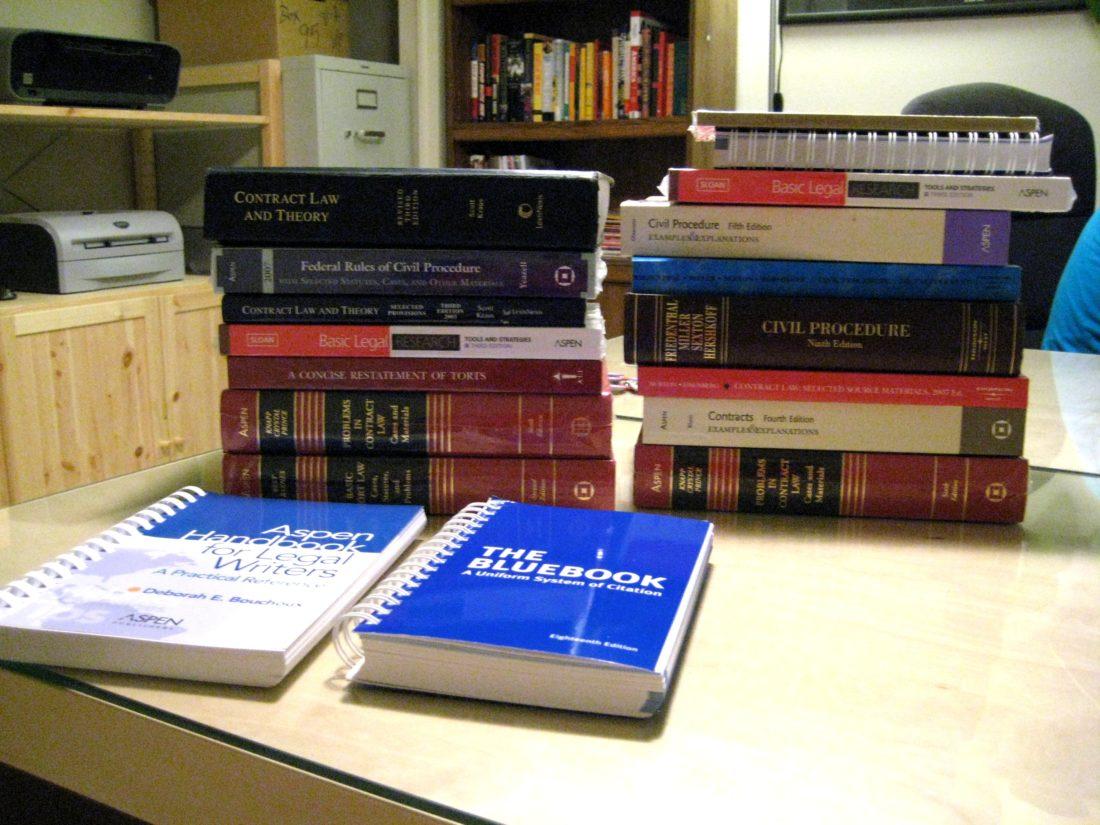 Law School Textbooks by Jesse Michael Nix via Flickr.